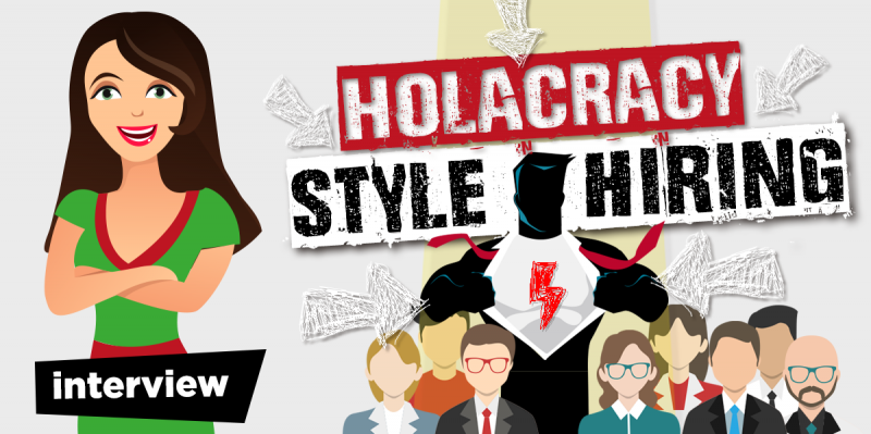 selectieproces mensen aannemen holacrcay